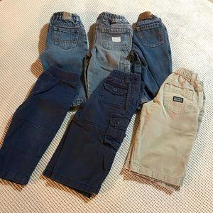 CHILDREN'S PLACE 12 mo denim pants 6 piece bundle
